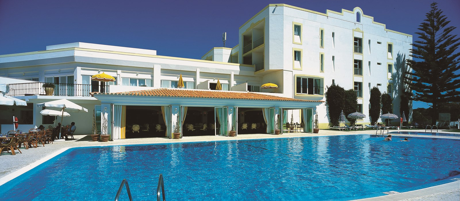 Swimming Pool Hotel : Heated outdoor swimming pool dona filipa hotel algarve