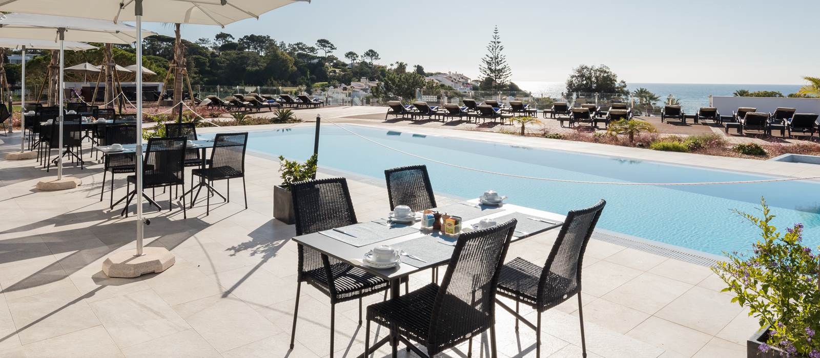 Poolside at Dona Filipa Hotel, Algarve